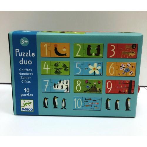 Puzzle dúo Zahlen