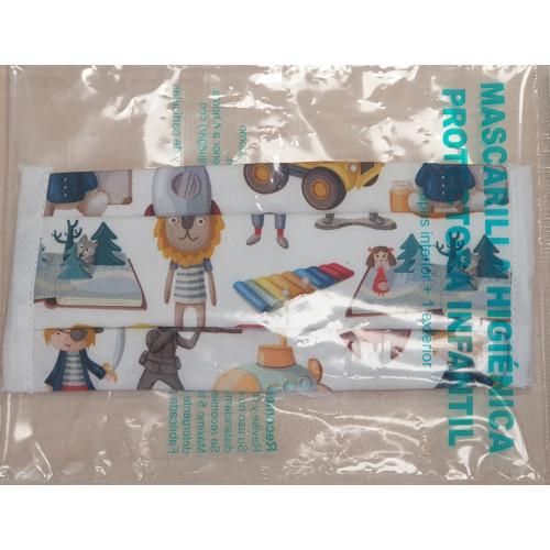 Mascarilla higiénica infantil juguetes
